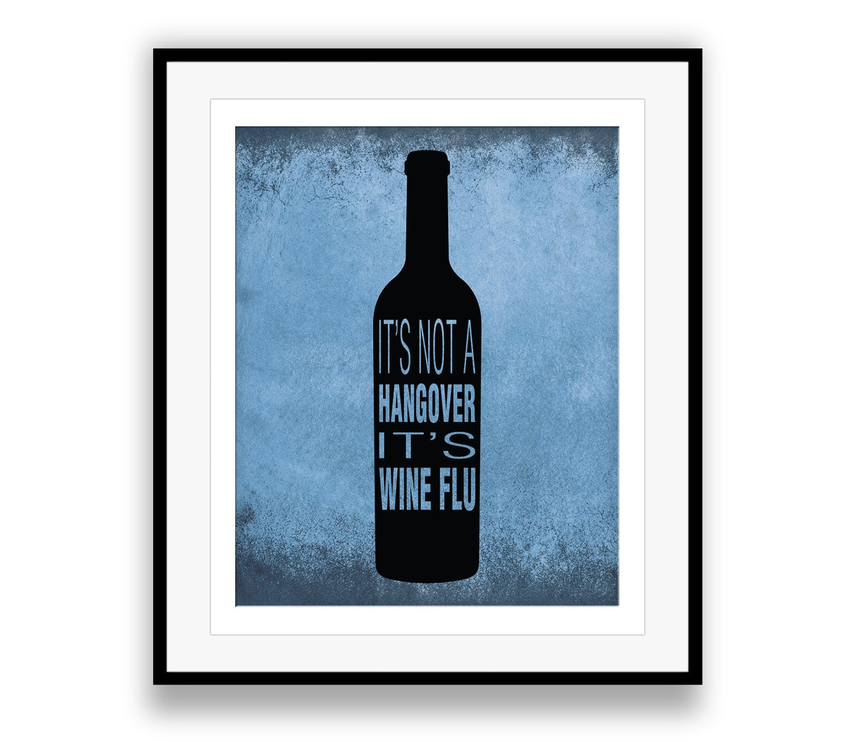 Witty Wine Art, Word Art - Wine Bottle Artwork, Bar Art, Humorous ...