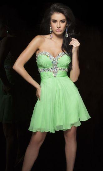 Chiffon A-line Sweetheart Short Formal Dresses FSAU1409P800330 - formalsydney.com