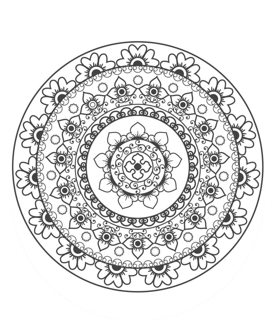 Stci coloriage pour adultes et enfants mandalas adult colouring mandala coloring pages - Mandala pour adulte ...