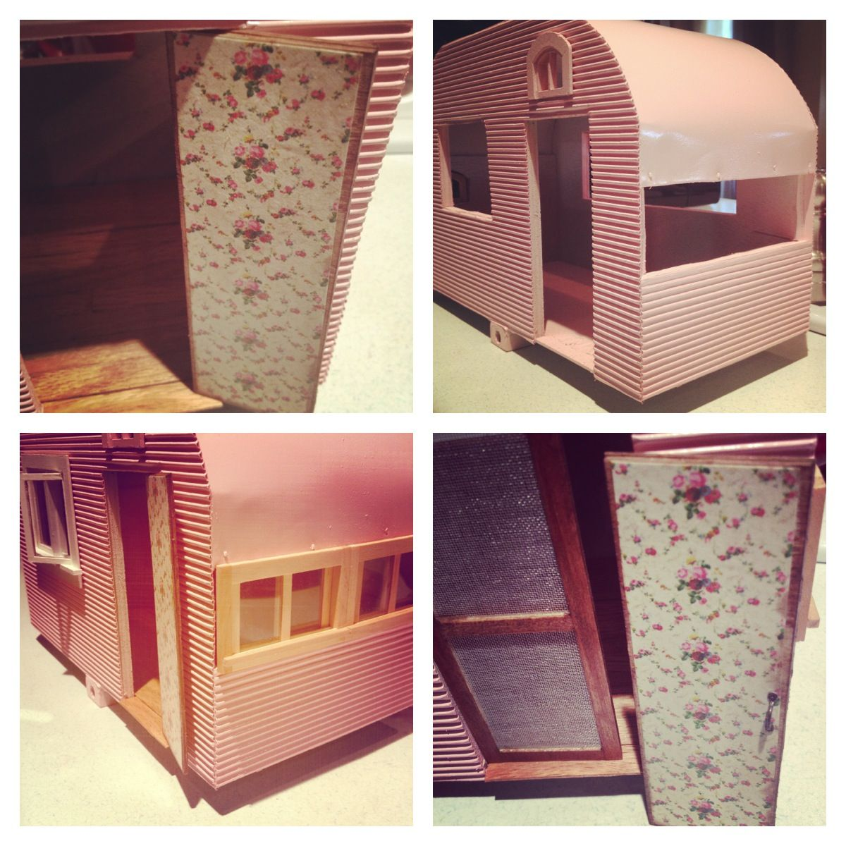 Lets Do Vintage Pink This Time! #dollhouse Miniatures