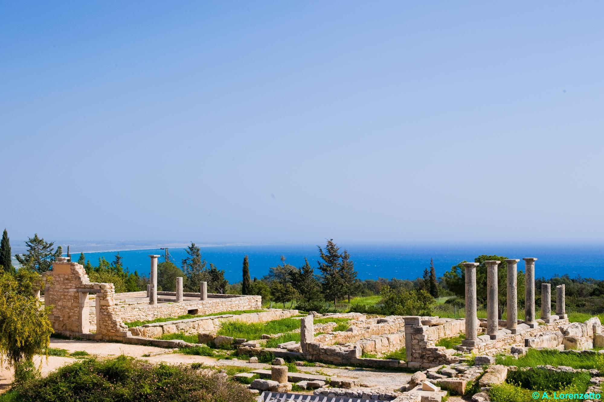 """Cyprus Lemesos """"Sanctuary of Apollon Ylatis"""". Apollon Ylatis, god of the woodland, was the protector of Kourion city-kingdom. He was worshipped here from the 8th century BC to the 4th century AD. His sanctuary was an important religious centre."""