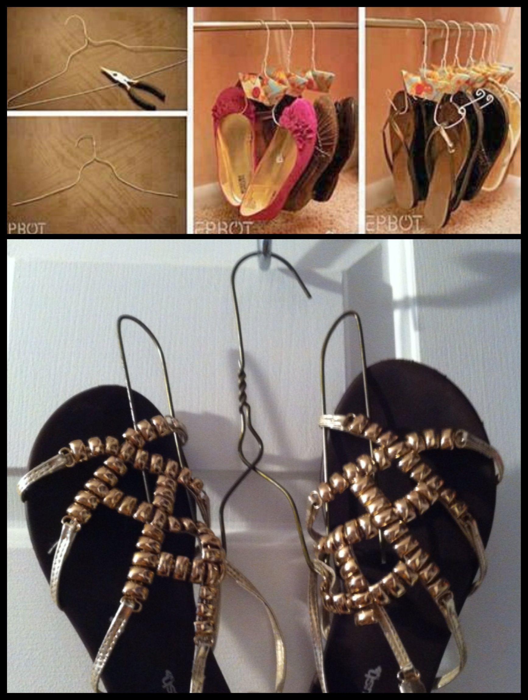 supports pour sandales et ballerines tableau rangement. Black Bedroom Furniture Sets. Home Design Ideas
