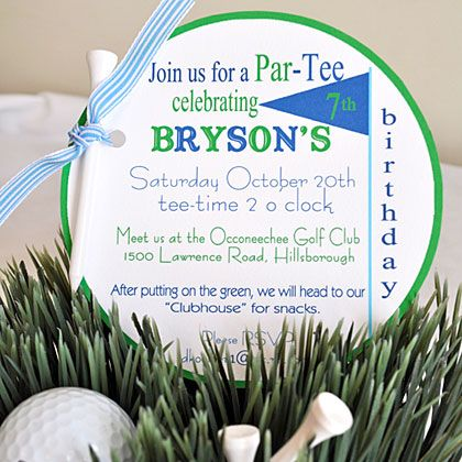 Golf Birthday Party – Golf Party Invites