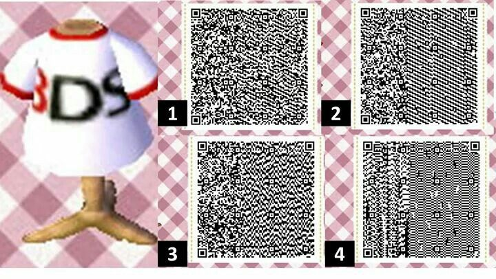 3ds Design Shirt Acnlqrcode Animal Crossing Animal Crossing Qr