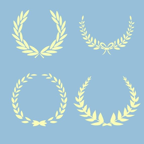 Laurel Wreaths French Shabby Chic Reusable Stencil For Fabric