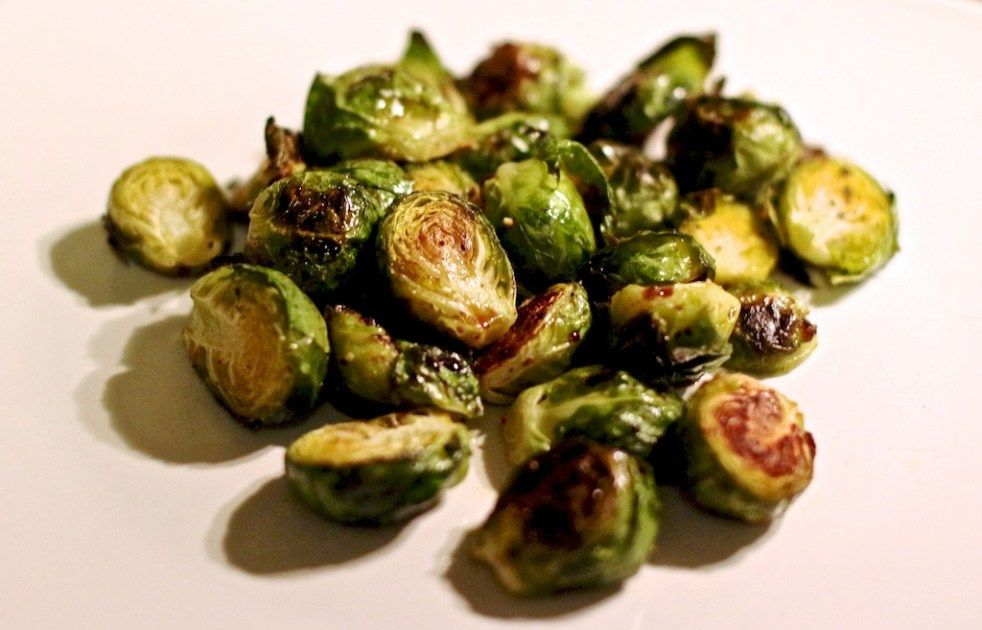 Blood Orange Olive Oil Roasted Brussels Sprouts W Dark