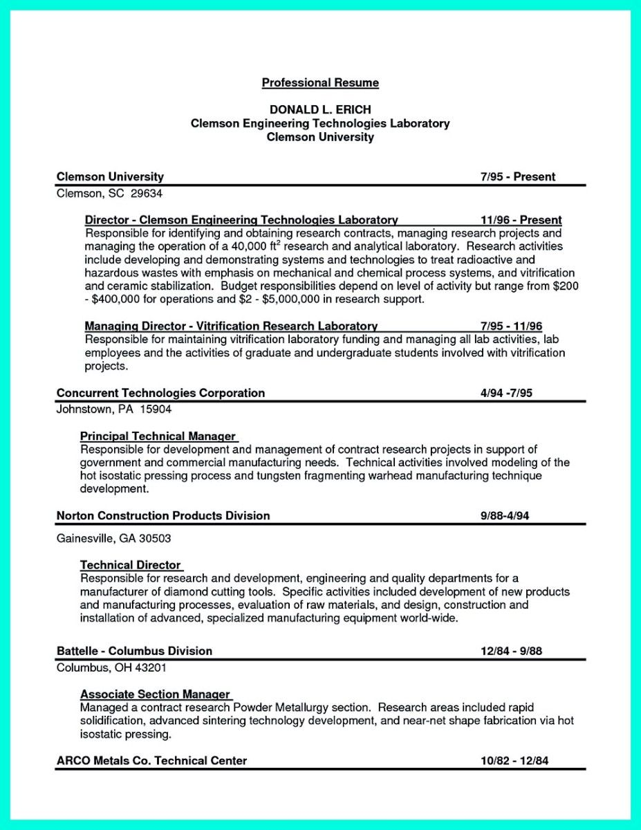 27+ Chemical engineering resume sample Resume Examples