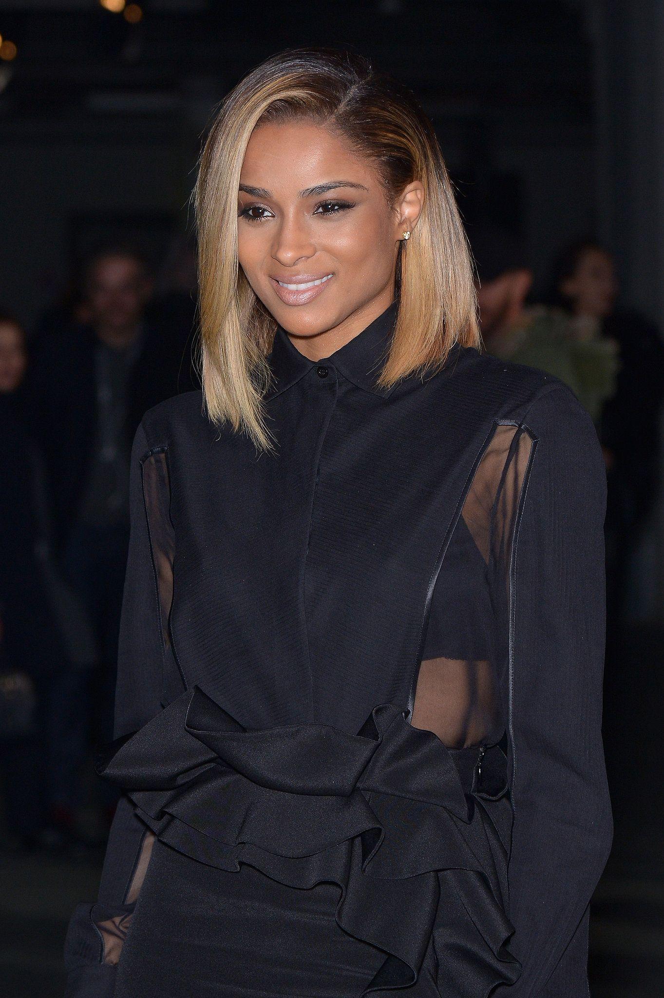 Ciara dark roots blond and haircut styles