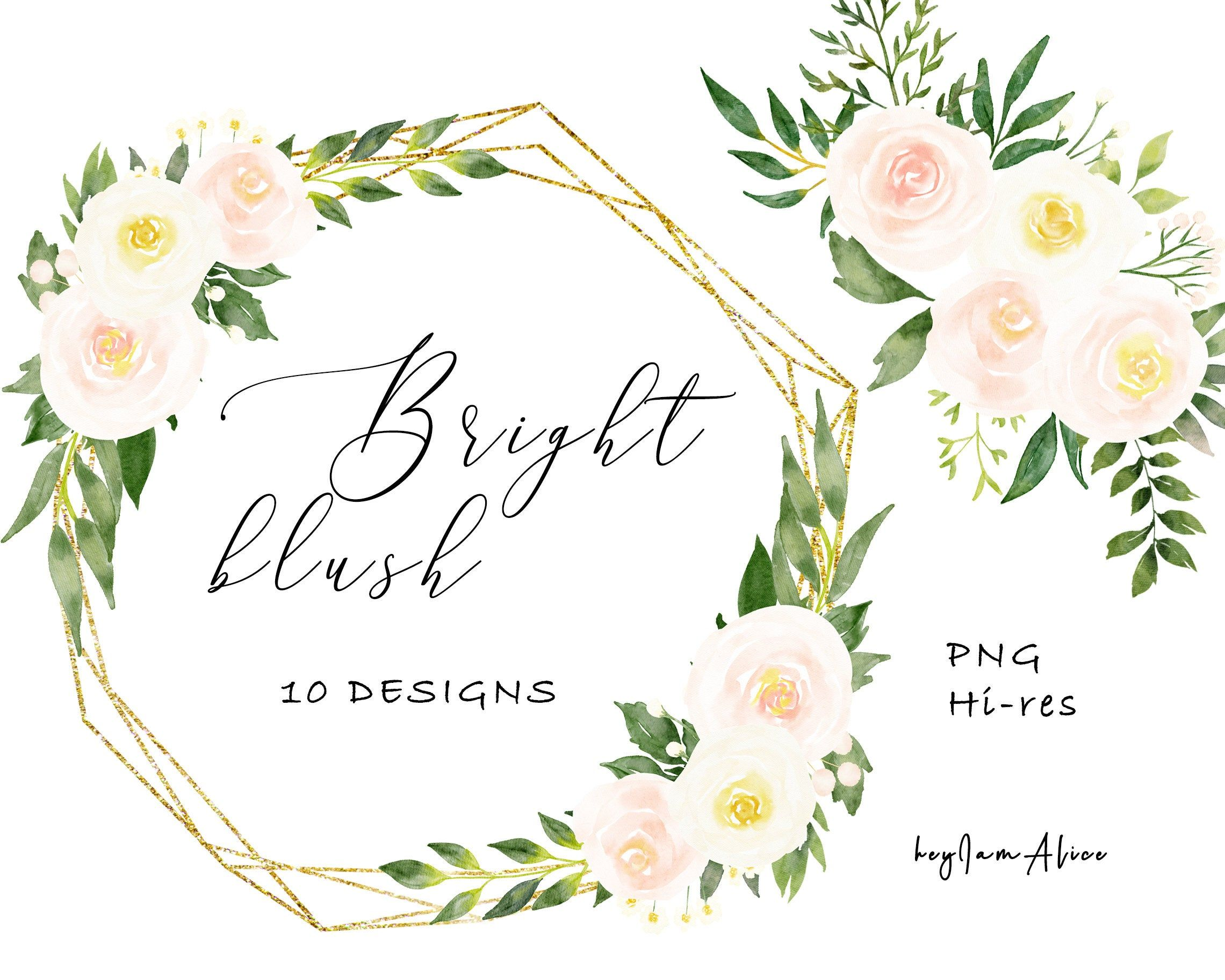 Wedding Design Wedding Greenery Bouquets Clipart Greenery Navy Blush Bouquets Wedding Bouquets Wedding Clipart Watercolor Flowers