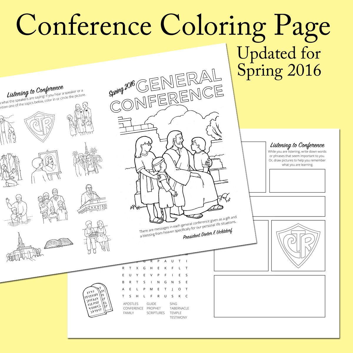 One Page Conference coloring page 2016 | general conference ...