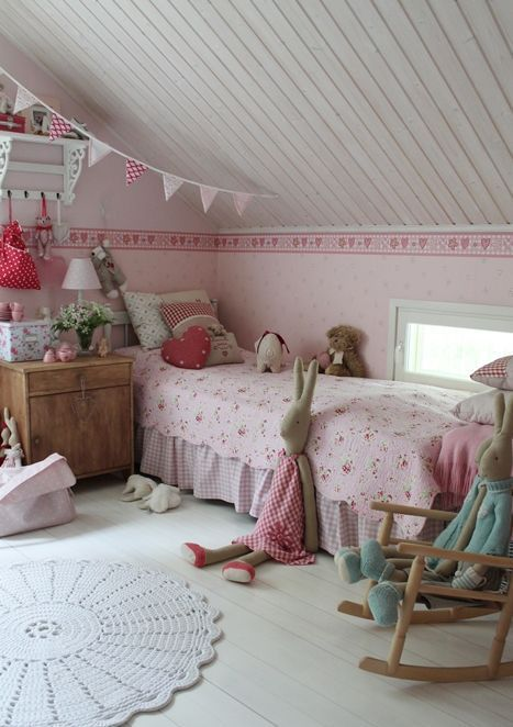 Pink Vintage Attic Bedroom For A Girl Kid Room Decor Attic