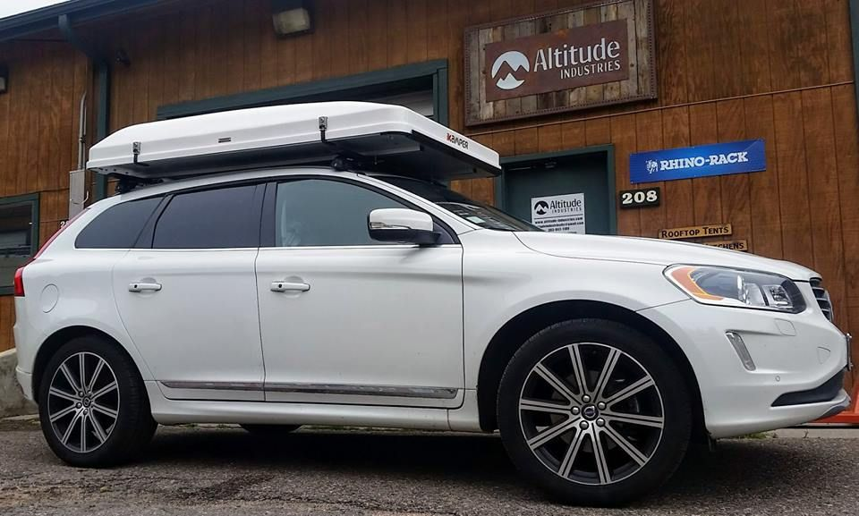 Volvo Xc60 With Ikamper Skycamp Rooftop Tent Roof Top Tent Roof Tent Overland Gear