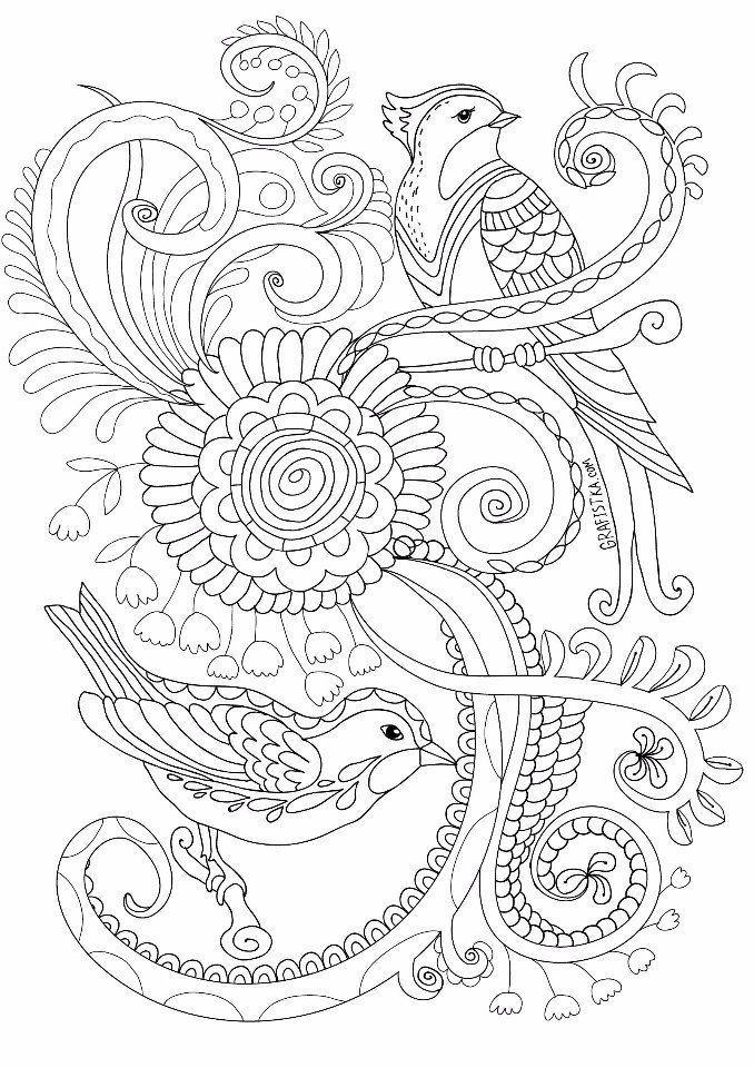 Раскраска-антистресс | COLORING 2 | Bird coloring pages ...