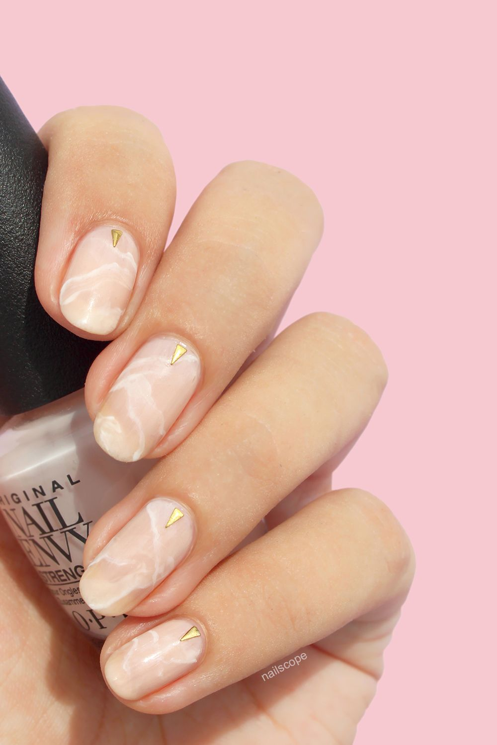 rose quartz nails + tutorial | nailscope | nailscope nails