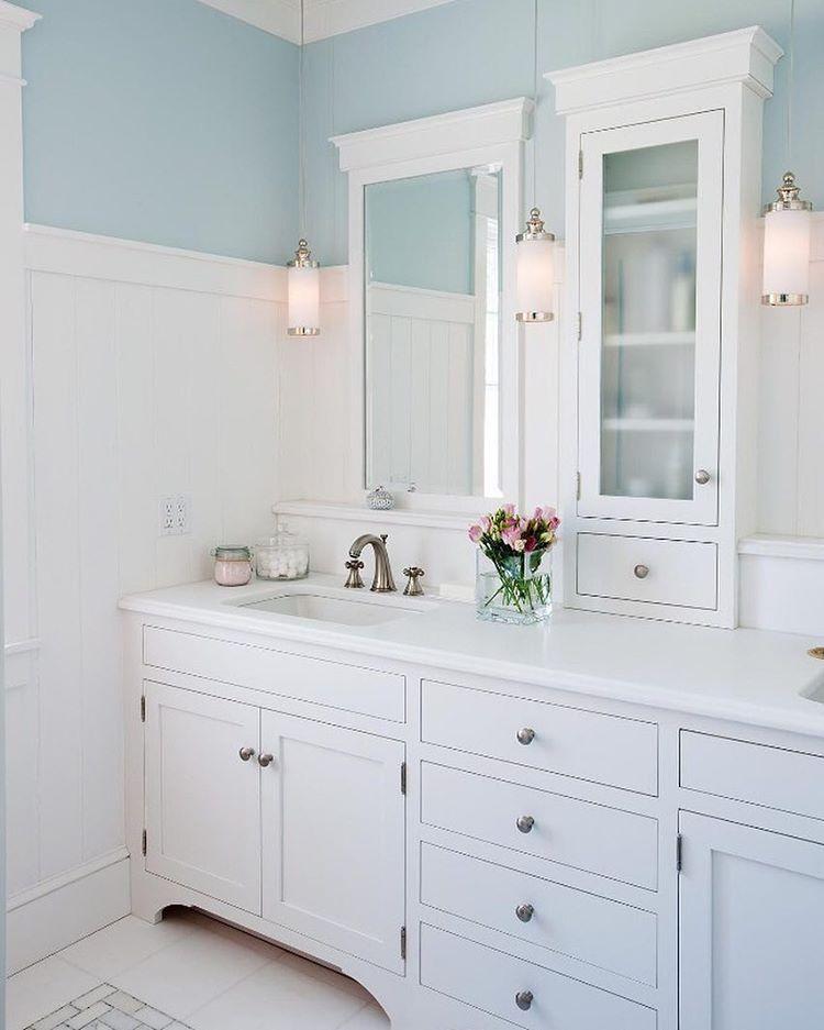 a lovely master bath double vanity with custom mirror on custom bathroom vanity mirrors id=17917