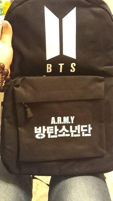 Best Kpop BTS Logo Backpack | Bts bag, Bts backpack, Backpacks
