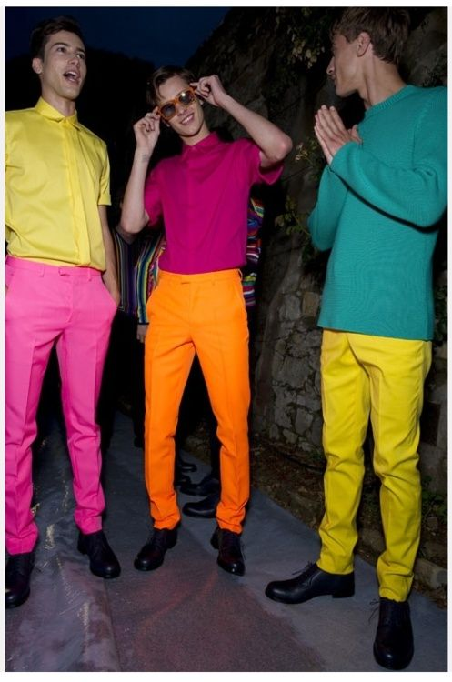 bright colours yeah party time  neon fashion neon