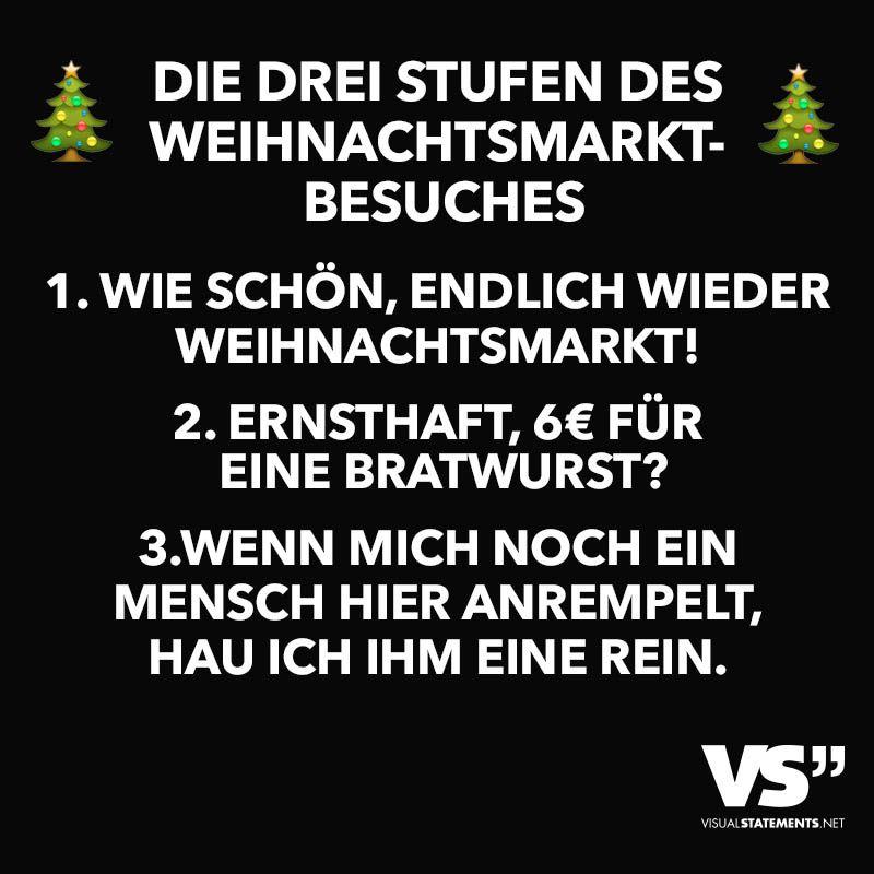 Die Drei Stufen des Weihnachtsmarktbesuches - VISUAL STATEMENTS