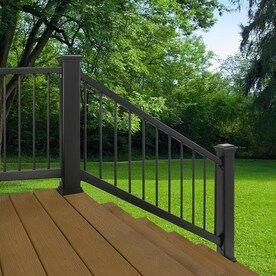 Best Freedom Assembled 4 159 Ft X 3 45 Ft Heathrow Matte Black Aluminum Handrail Kit At Lowes Com 400 x 300