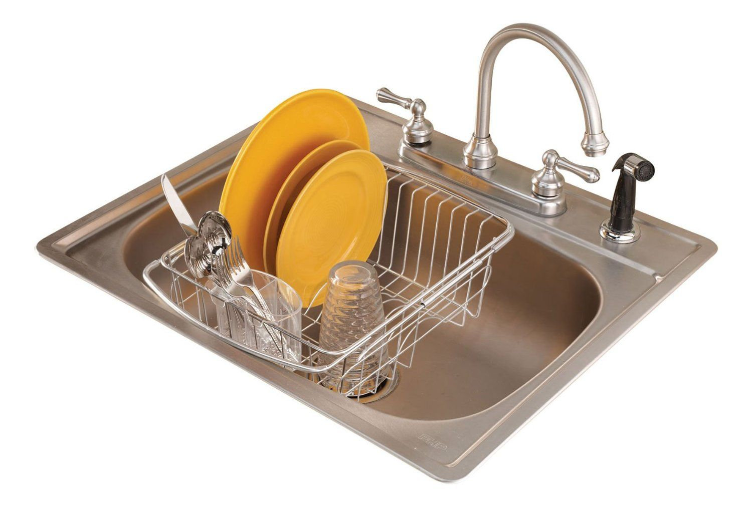 Over The Sink Dish Drainer Rack Good For Single Compartment Sinks