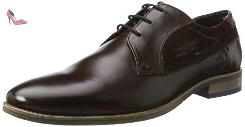 312164041134, Derby Homme, Marron (Dark Brown/Dark Brown), 40 EUBugatti
