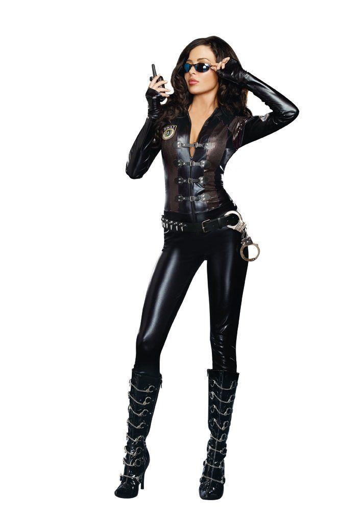b3ed5ccc2540a Dreamgirl Women's Sexy Spy, Secret Agent Costume Special Ops, Black, Small