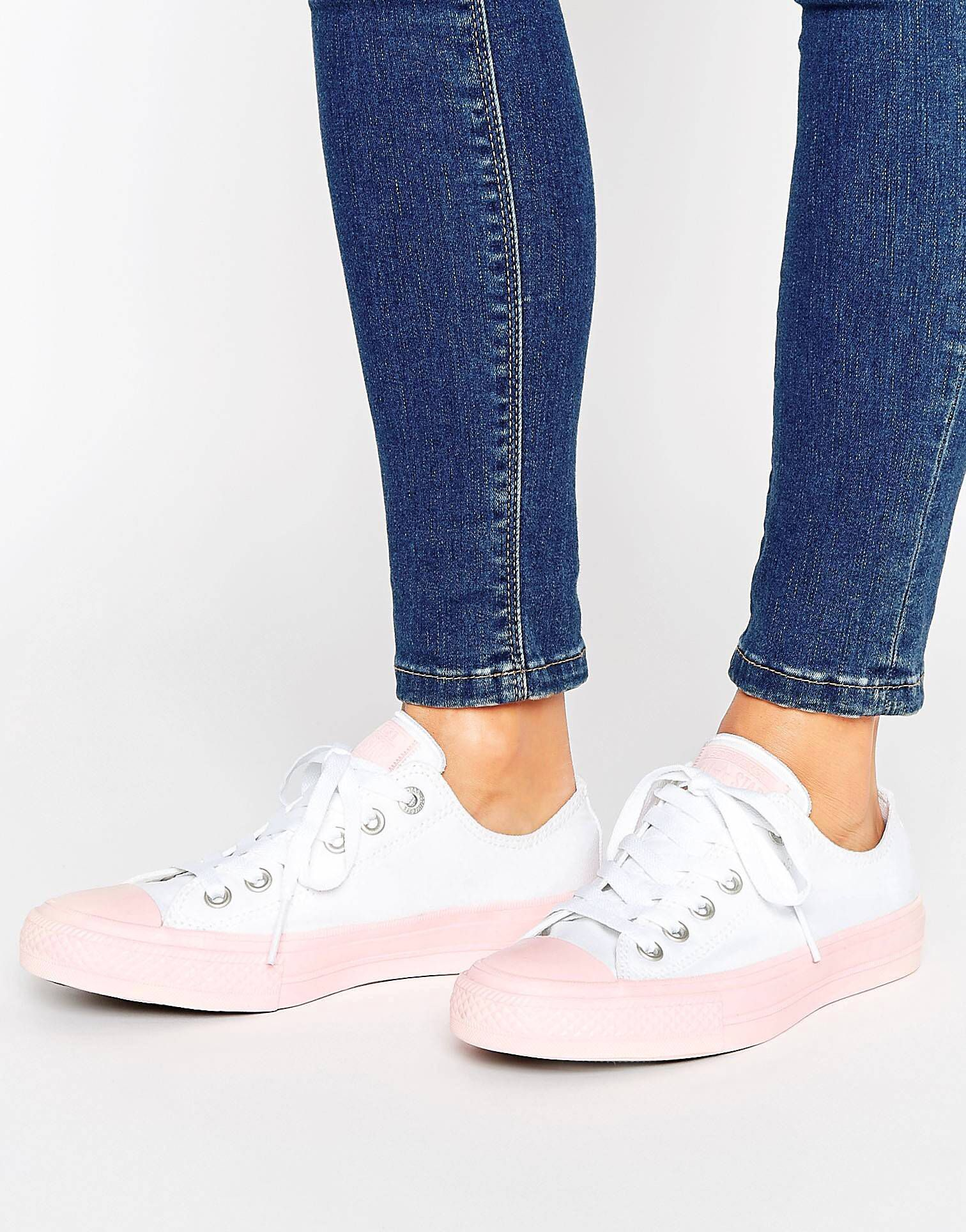 f736d2dce3c3 Converse Chuck Ii Ox Trainers With Pastel Mid Sole