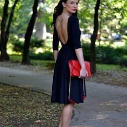 Fairytale Collection Shop Black Soft Pleat Backless Midi Summer Dress
