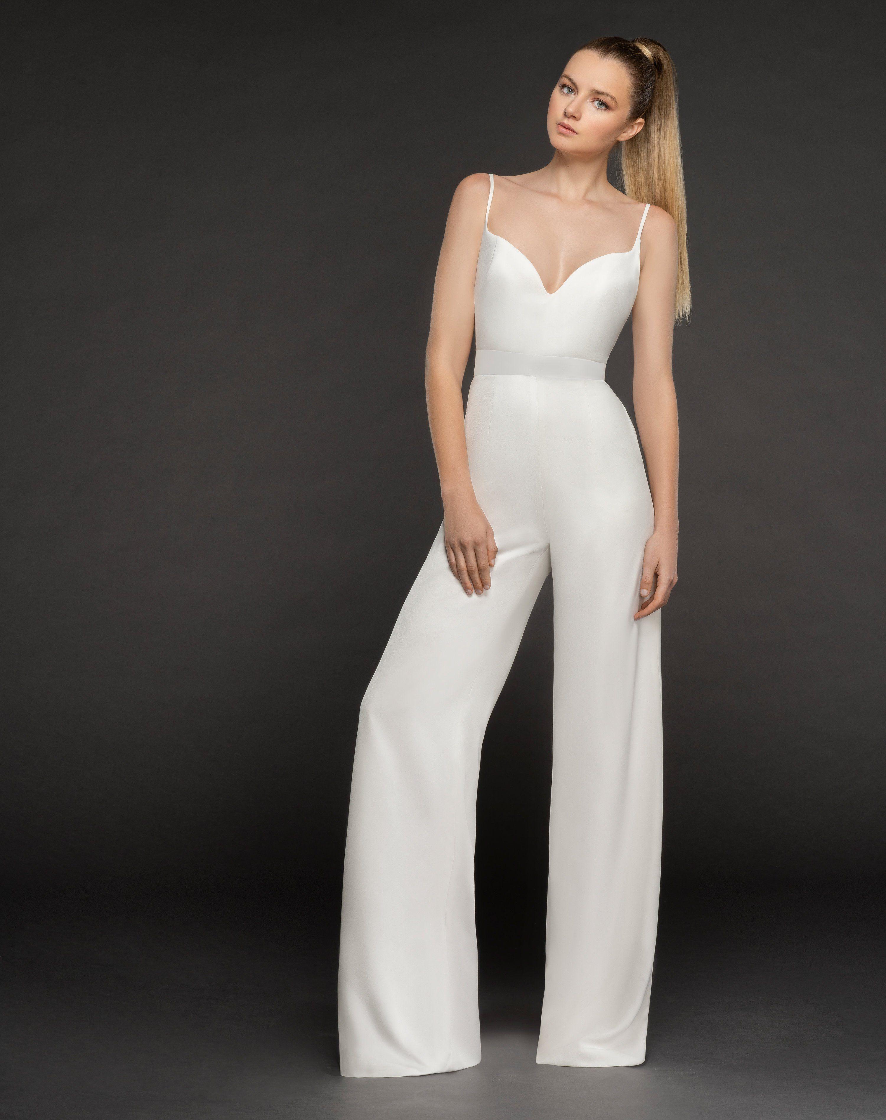 Blush By Hayley Paige Kim Sweetheart Bridal Jumpsuit Off White Bridesmaids Jumpsuits Jumpsuit Fashion Prom Jumpsuit