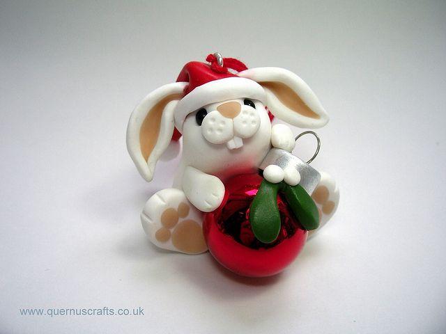 Christmas Bauble Bunny  by QuernusCrafts, via Flickr