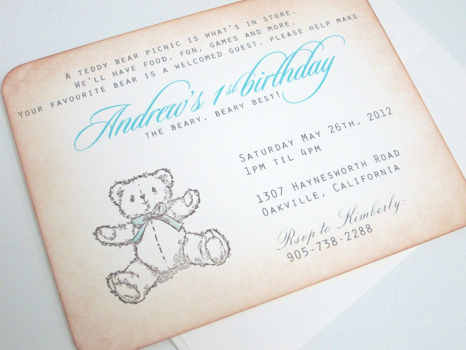 Baby Shower Invitation Teddy Bear Picnic with by anistadesigns ...