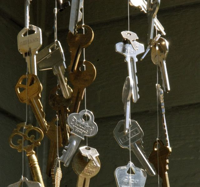 old key garden mobile art in red wagons: metal work | Old ...