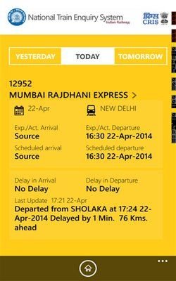 National Train Enquiry System (NTES) app launches on Windows