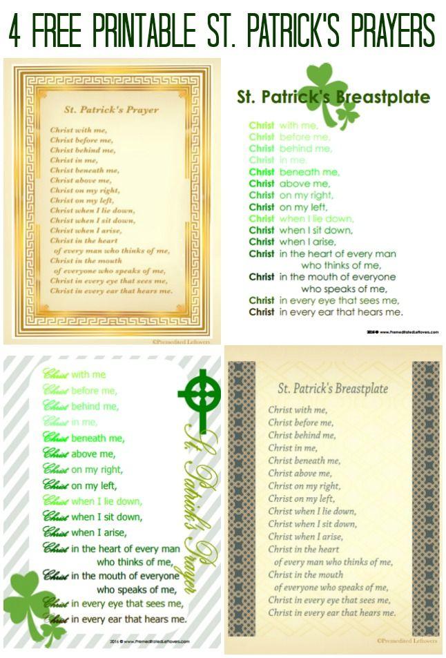 4 Free Printable St Patrick S Breastplate Prayers Print One Of