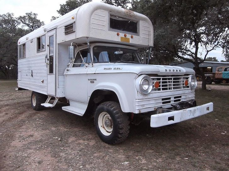 Rare 1966 Dodge Power Wagon W300 Chinook Truck Camper | vintage and