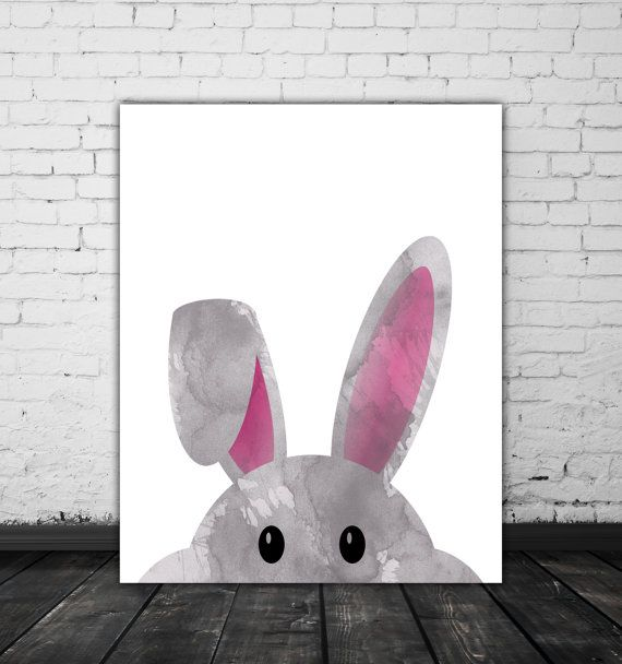Watercolor easter rabbit bunny ears easter gift watercolor rabbit watercolor easter rabbit bunny ears easter gift watercolor rabbit ears cute bunny face grey pink watercolor bunny head easter wall art negle Images