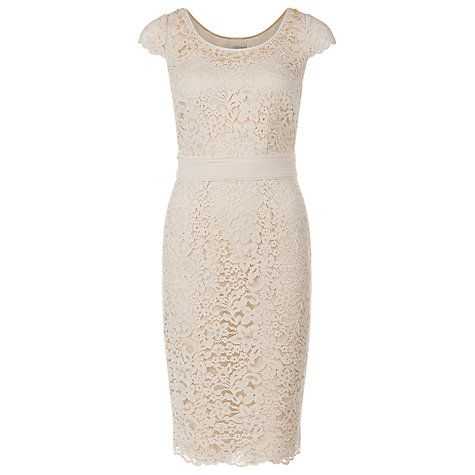 Buy Jacques Vert Elegant Lace Dress, Champagne Online at johnlewis ...