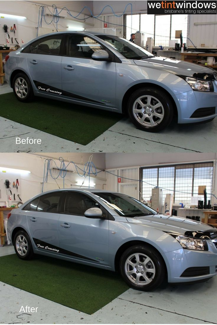 We Tint Windows Blue Holden Before And After Window Tinting