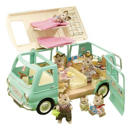 sylvanian families campervan camping car v hicule jeux et jouets 136. Black Bedroom Furniture Sets. Home Design Ideas