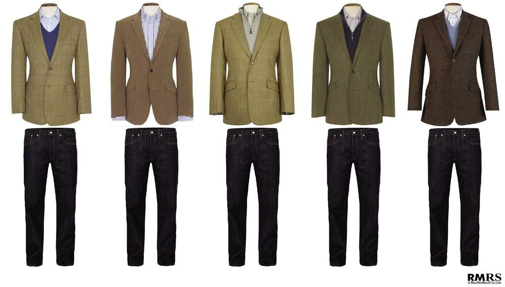 How To Wear A Sports Jacket With Jeans | Sport coat, Men wear and ...