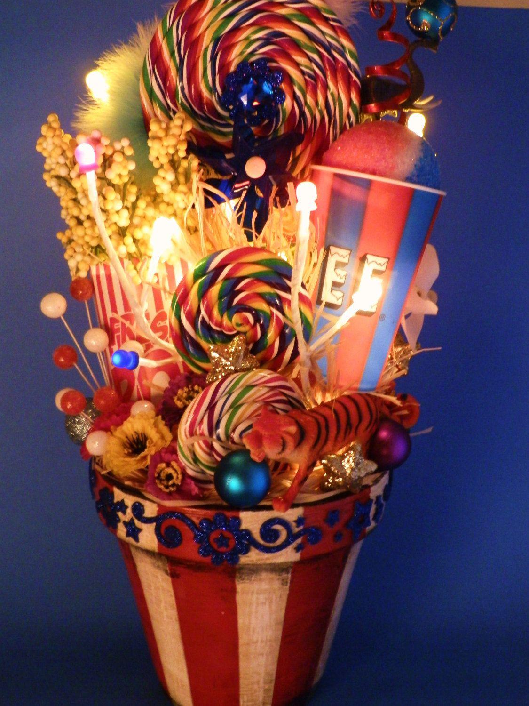 Lighted Carnival Circus Decor Centerpiece. $115.00, via Etsy.