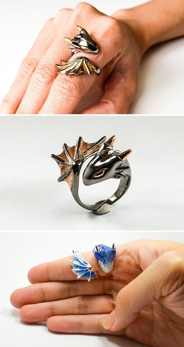 79 Dragon Inspired Gift Ideas For The Mothers And Fathers Of Dragons Dragon Jewelry Dragon Ring Cute Jewelry