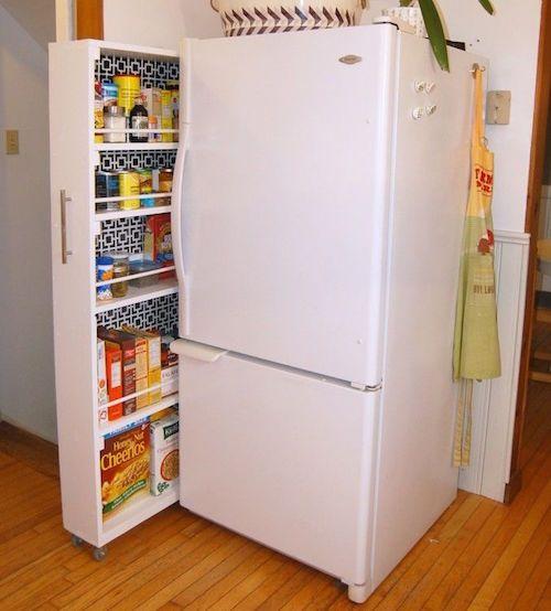 Extra Storage Next To Fridge In A Small Kitchen Ideas