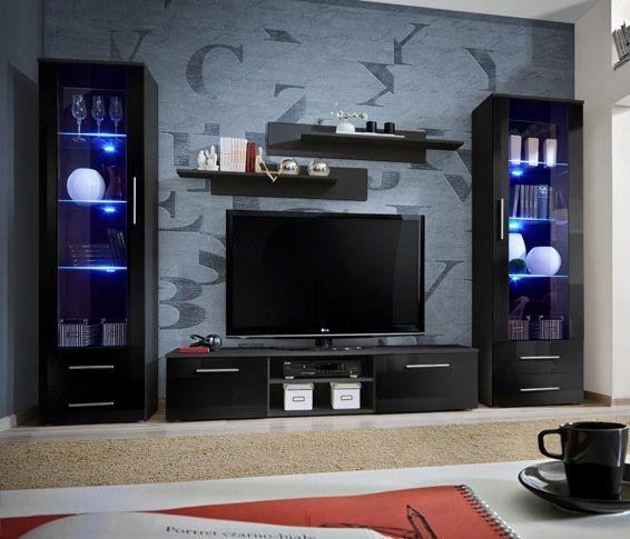 Telia 6 | Meuble tv modulable, Meuble tv moderne et Meuble tv led