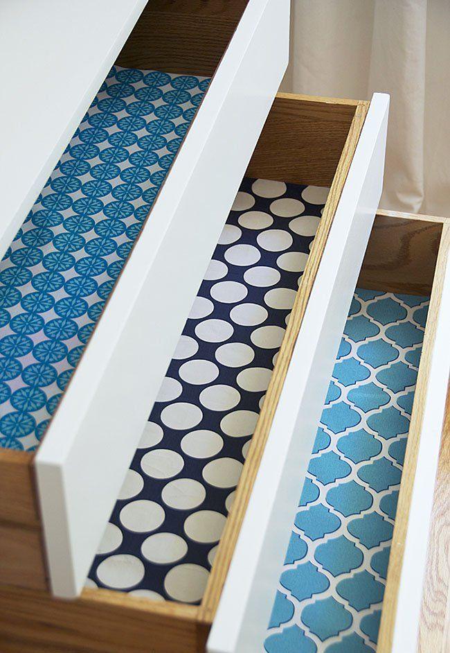 Ideas para forrar los cajones con papel o tela y decorarlos ...
