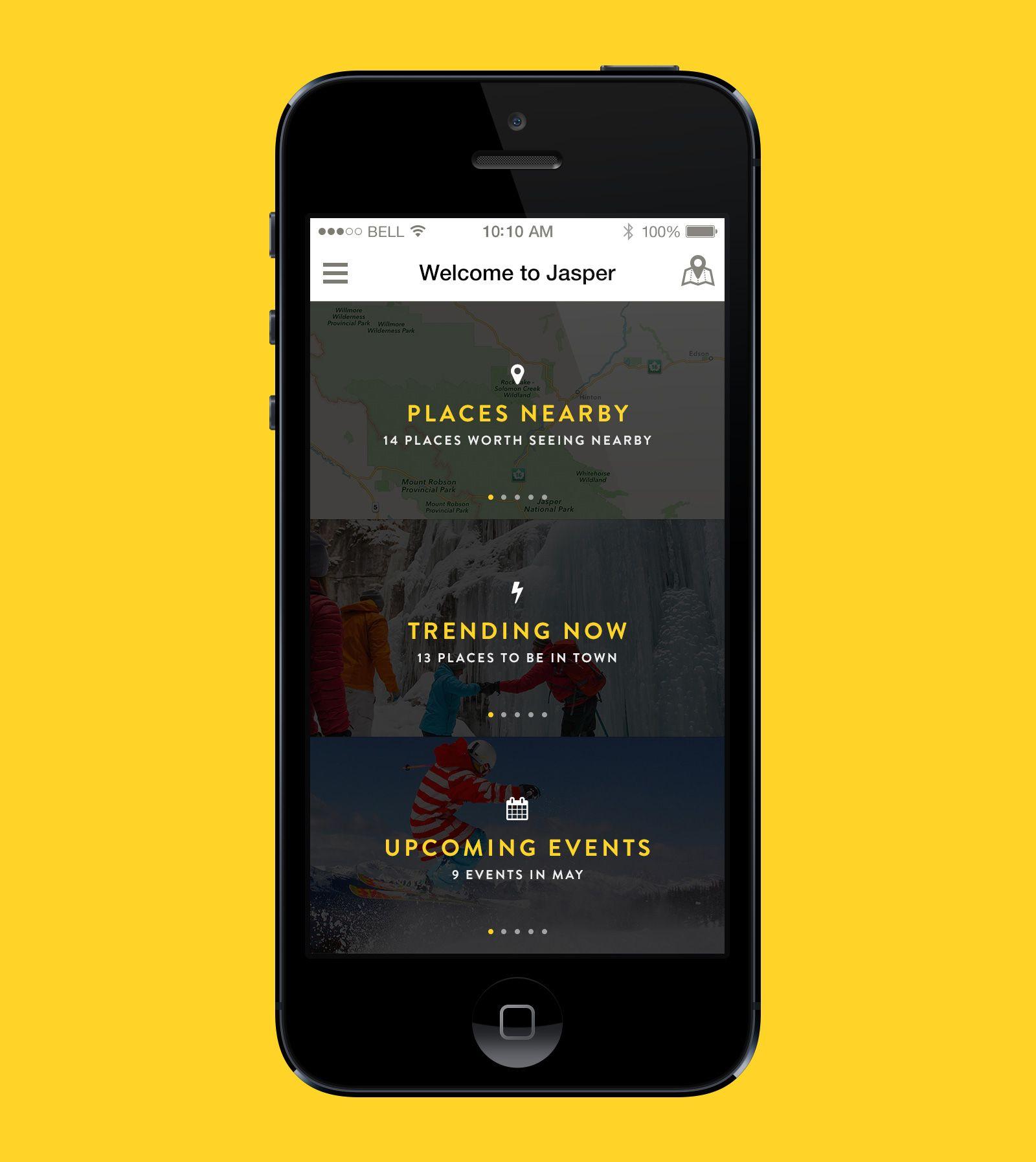 Tourism App Home screen by Éric Le Tutour App home