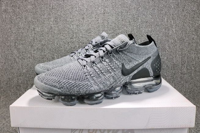 huge selection of a8f72 817d3 Nike Air VaporMax 2 Dark Grey 942842-002 WHITE-WOLF GREY-BLACK