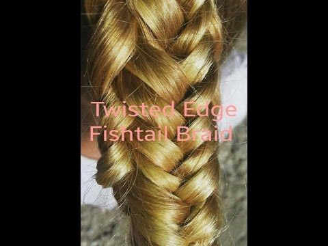 Twisted Edge Fishtail Braid (Easy Back to School Hairstyle) - YouTube