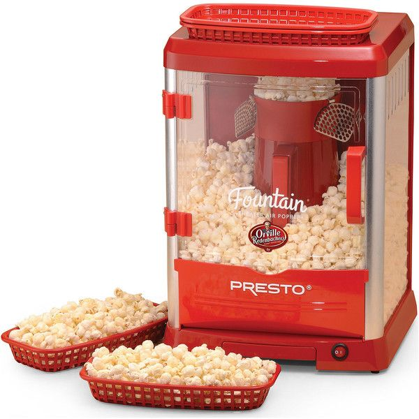 Presto Orville Redenbacher's Fountain Theater Hot-Air Corn Popper ($80) ❤ liked on Polyvore featuring home, kitchen & dining and presto