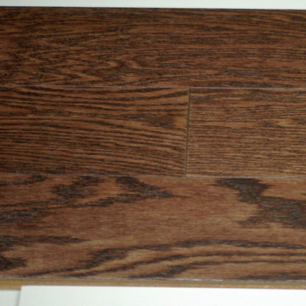 Hardwood Flooring Red Oak 3/8 x 5 Wire Brushed Musket